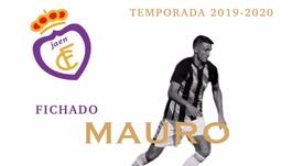 Mauro, cedido al Jaén. Twitter/RealJaenCF