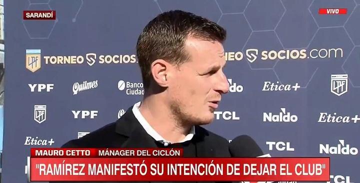 San Lorenzo le mandó un recadito a Boca por el 'caso Ramírez'. Captura/ESPN