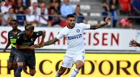 Icardi is a top target for Real Madrid. Twitter/Inter