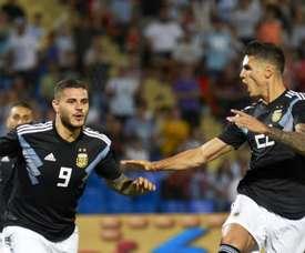 Icardi marque son premier but. ArgentinaTwitter