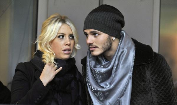 Mauro Icardi y Wanda Nara. EFE