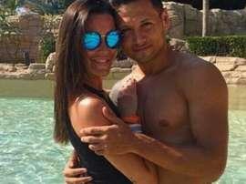 Mauro Zárate, objeto de críticas por los comentarios a su mujer. Instagram