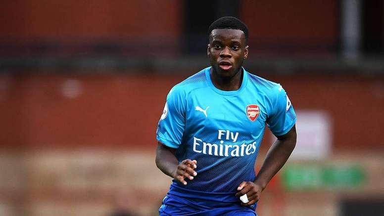 Mavididi jouait au Charlton Athletic en prêt. Twitter/Arsenal