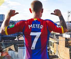 Meyer joined Crystal Palace on a free transfer. Twitter/CPFC