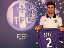 Maxime Spanbo, en su presentación con el Toulouse. TFC