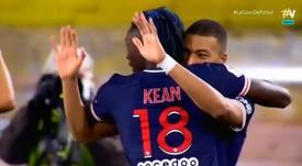 Mbappé regresó totalmente recuperado. Captura/Vamos