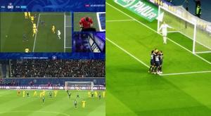 Mbappé hizo el 2-0 para el PSG. Captura/beINSports