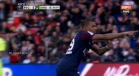 Doblete de Mbappé. Captura/ESPN