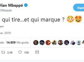 Mbappe makes fun of Verratti. Screenshot/Twitter/KMBappe