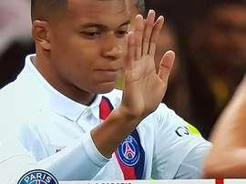 Mbappé a fait son retour. Capture/Movistar+