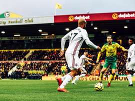 El Sheffield le ganó al Norwich City. Twitter/SheffieldUnited