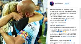 Mechi Blanco confirmó su relación con Lisandro López. Instagram/MechiBlanco