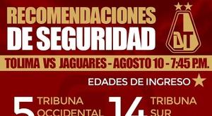 Las recomendaciones de seguridad de Tolima se volvieron virales. Twitter/cdtolima