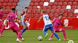 El Sporting derrotó al Málaga. LaLiga