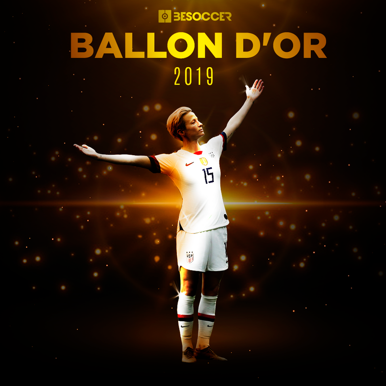 Megan Rapinoe, Ballon d'Or féminin 2019. AFP