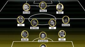 La meilleure équipe de tous les temps, selon 'France Football'. ProFootballDB