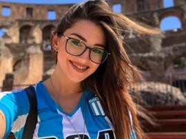 Mel Pasini, pareja de Centurión. Instagram/melpasini