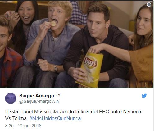 Las redes sociales sacaron punta al duelo entre nacional y Tolima. Twitter
