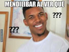 Mendilibar pudo alinear a Cucurella. MemeDeportes