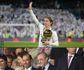 Modric ofreció el Balón de Oro al Bernabéu. MemeDeportes