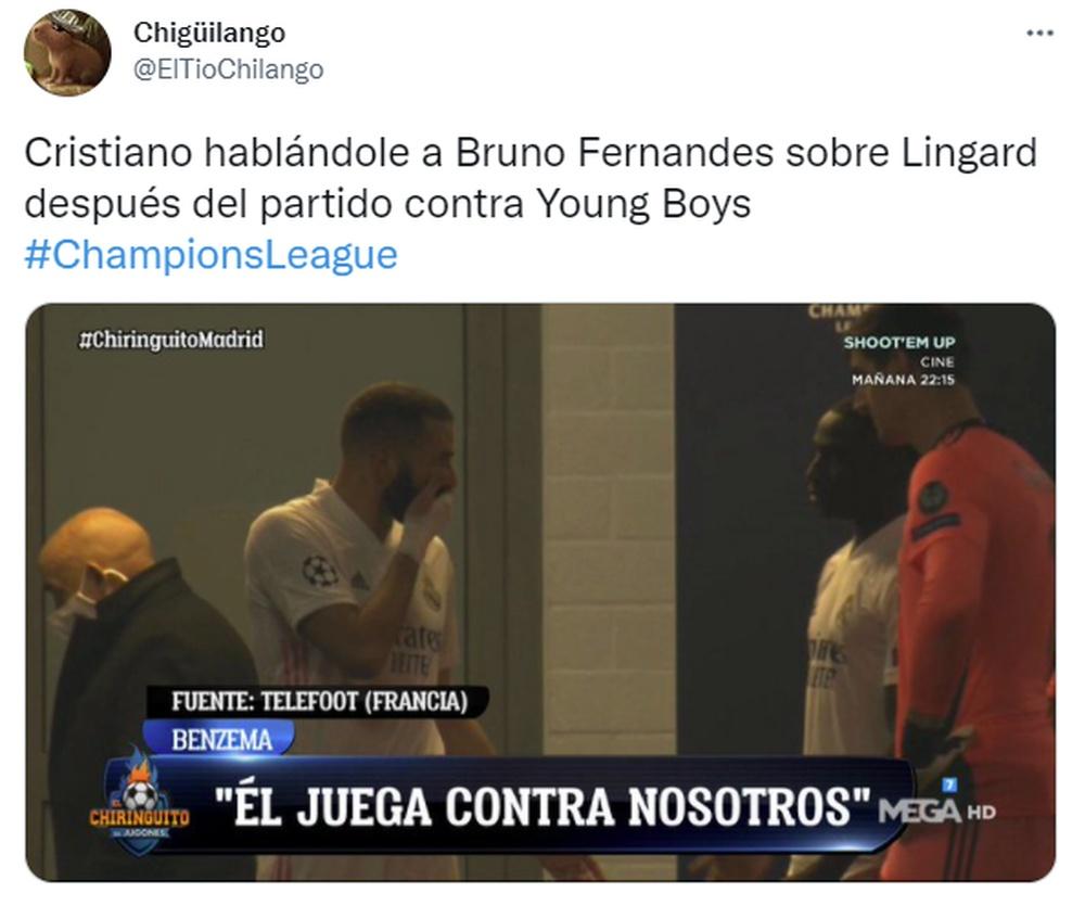 Los mejores memes del estreno de la Champions 2021-22. Twitter/ElTioChilango