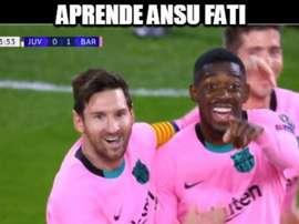 Los mejores memes del Juventus-Barcelona. Memedeportes