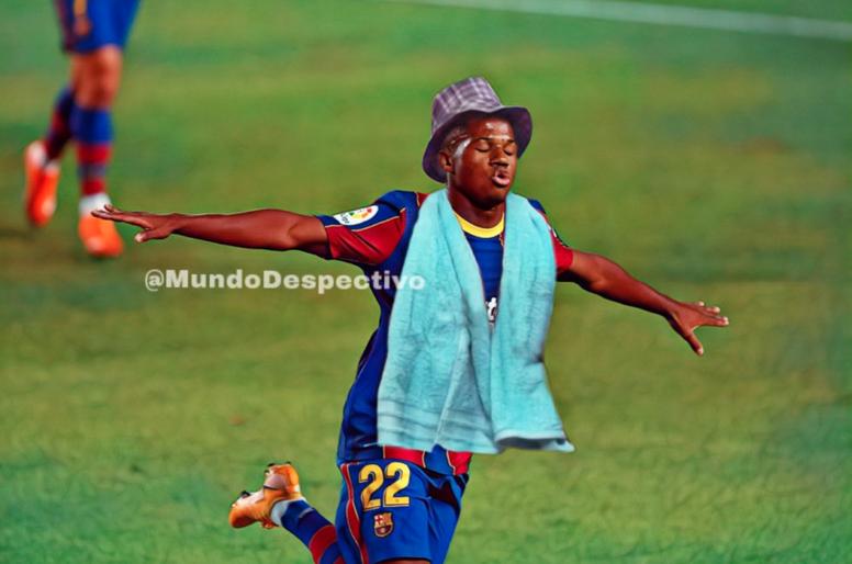 Los memes del Barça-Villarreal. Twitter/MundoDespectivo