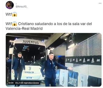 Meme 4 del partido entre Valencia y Real Madrid. Twitter/Ansu10_