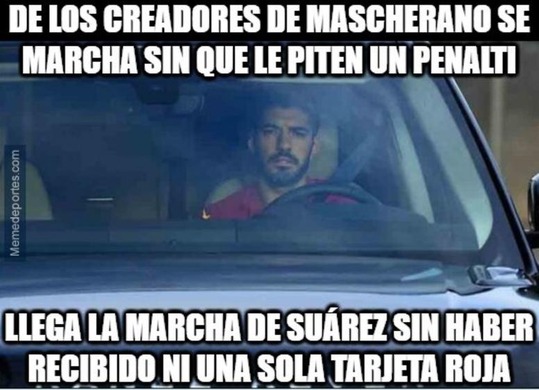 Los mejores memes del fichaje de Suárez por el Atlético. MemeDeportes