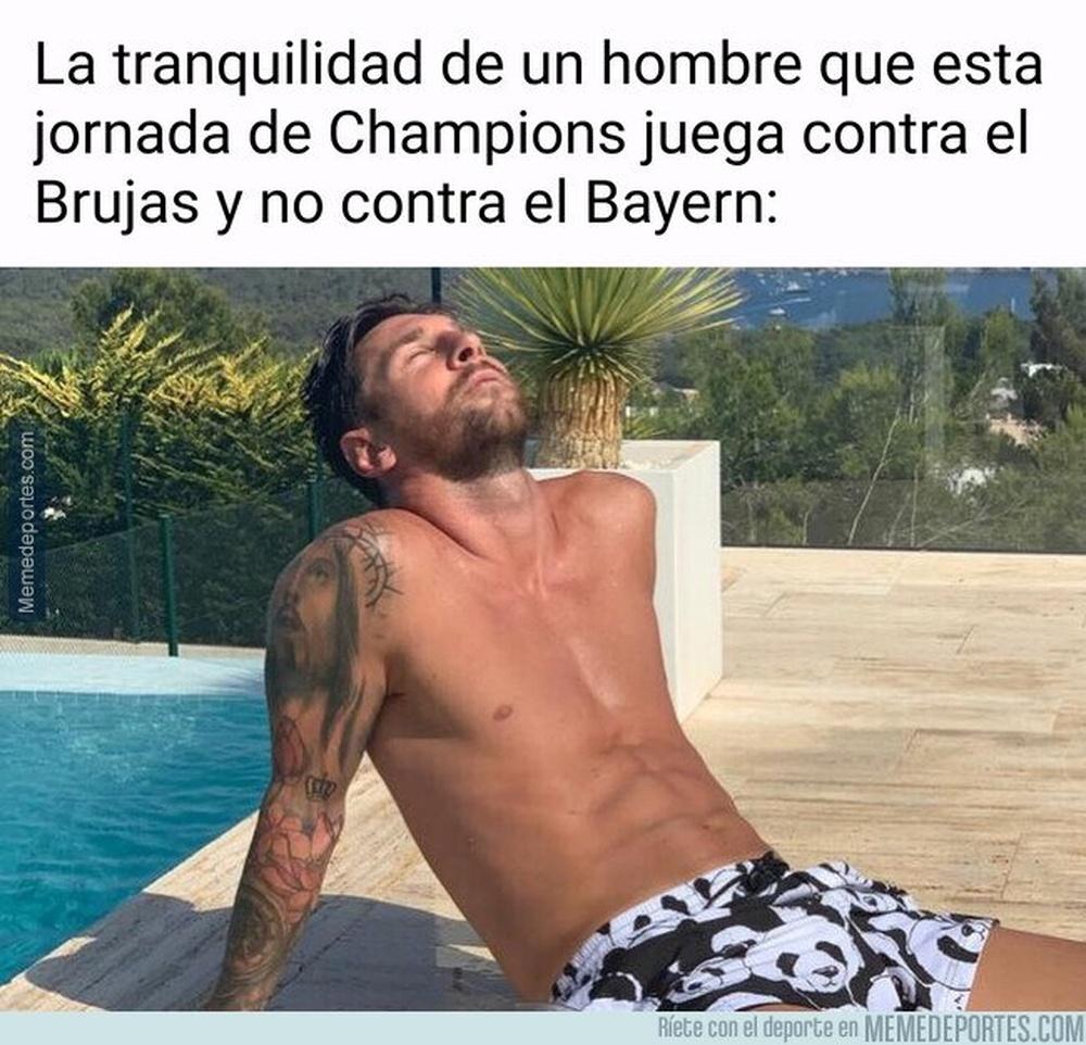 Los mejores memes del Barcelona-Bayern de Múnich. EFE