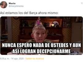 Los mejores memes del Barça-Bayern. Twitter/merystinsonx