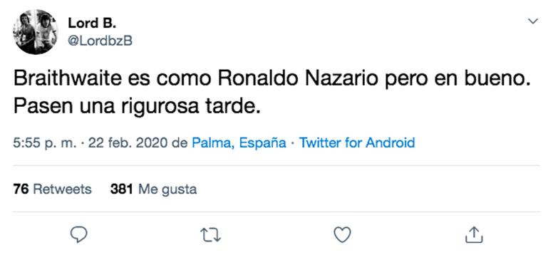 Los mejores memes del Barcelona-Eibar. Twitter/LordbzB