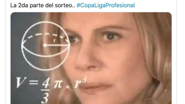 Los mejores memes del sorteo de la Copa de La Liga Argentina.  Twitter/DGGallagher