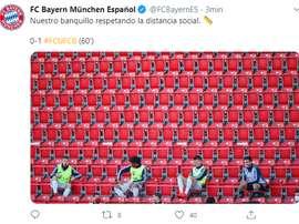 Los mejores memes de la vuelta del Bayern a la Bundesliga. Twitter/FCBayernES