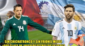 Los 'memes' de Argentina-México. Twitter