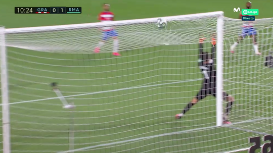 Golazo de Ferland Mendy pour son premier but au Real. Capture/Movistar+