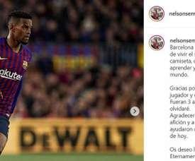 Semedo dejará 35 millones de euros en las arcas del Barça. Instagram/nelsomsemedo50