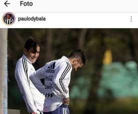 Dybala s'est désolé de la blessure de Lanzini. Instagram/PauloDybala