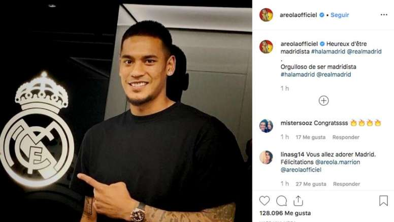 Areola published a message on Instagram after signing for Real Madrid. Instagram/areolaofficiel