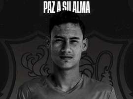 Cristian Carrillo, juvenil del Caracas FC, falleció tras un partido. Twitter/Caracas_FC
