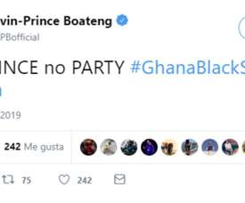 Boateng had a message for Ghana after their AFCON elimination. Twitter/KPBofficial