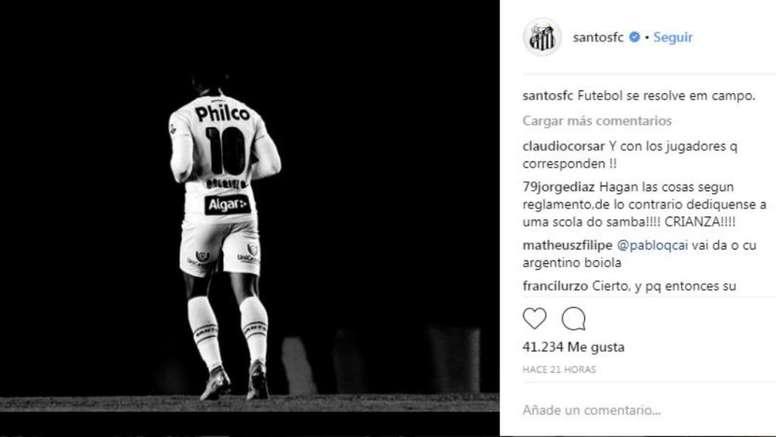 Crece la tensión entre clubes. Instagram/SantosFC