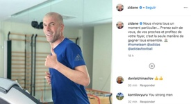 Zidane lanzó un mensaje en su cuenta de Instagram. Instagram/zidane