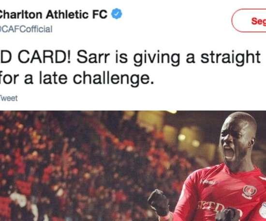 Sarr s'est fait remarqué. Twitter/CAFCofficial