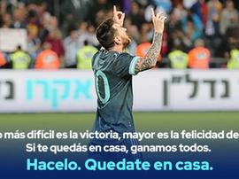 A mensagem de Messi e da Seleção aos argentinos. Argentina