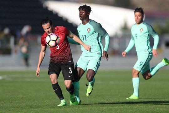 Sub-19 lusos não conseguiram segurar a vantagem do primeiro tempo. Federação Portuguesa de Futebol