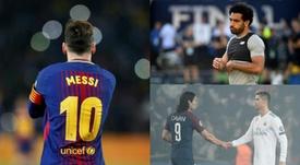 Os melhores marcadores de 2017/18. AFP/BeSoccer