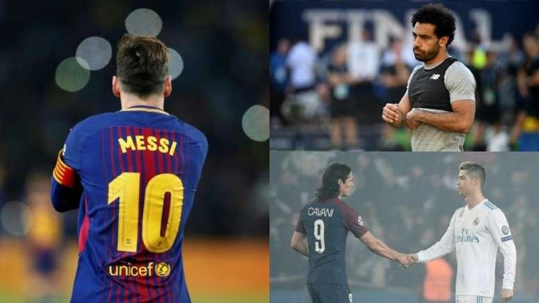 Messi, Salah and Ronaldo make up the top 3. AFP/BeSoccer