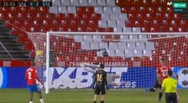 Messi fez dois gols sobre o Granada pela 17ª rodada do Campeonato Espanhol. Captura/MovistarLaLiga