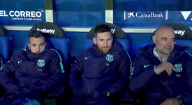 Valverde aplica el 'método Cristiano' con Messi. Captura/GOL